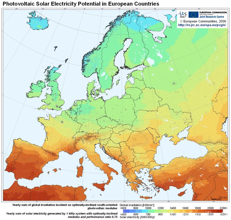 EU-Globalstrahlung